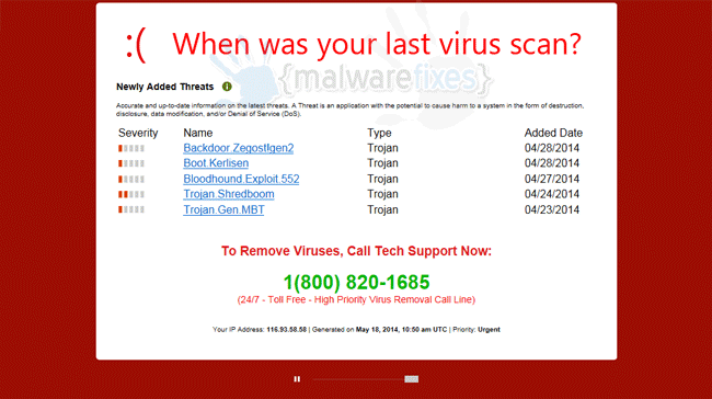 When was your last virus scan?