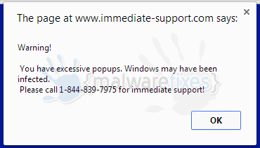 Warning! You have excessive popups