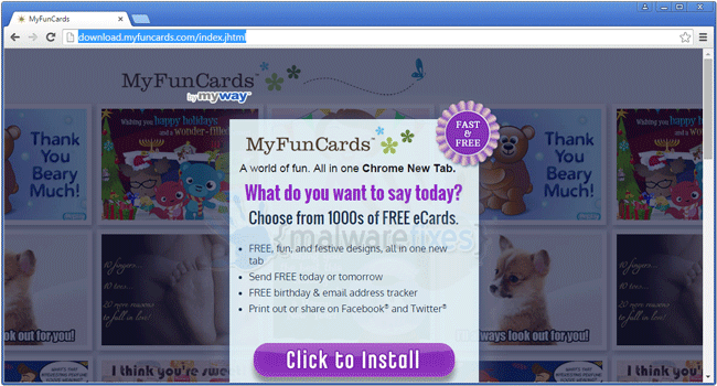 MyFunCards Toolbar