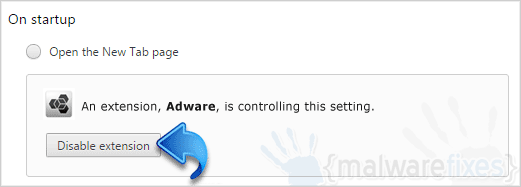 On-startup Adware