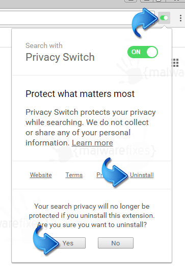 Privacy Switch Uninstall