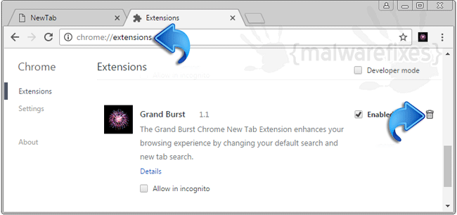 Grand Burst Chrome Extension