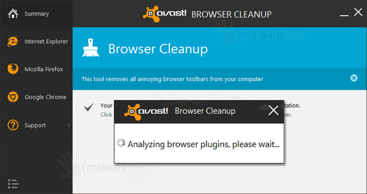 Delta-Homes on Avast Browser Cleanup
