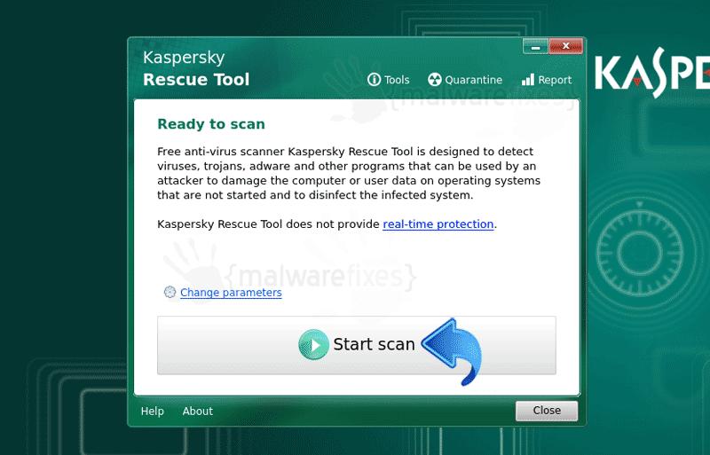 Screenshot of KRD virus scan
