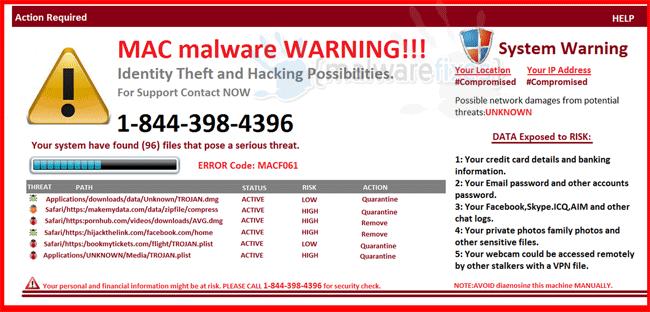 MAC Malware Warning