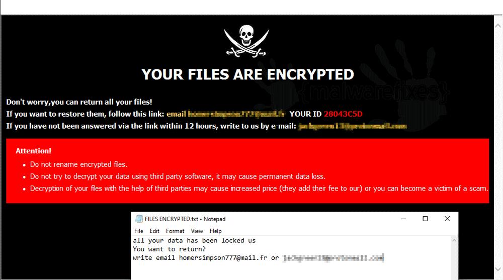 Image of Cve Randomware note