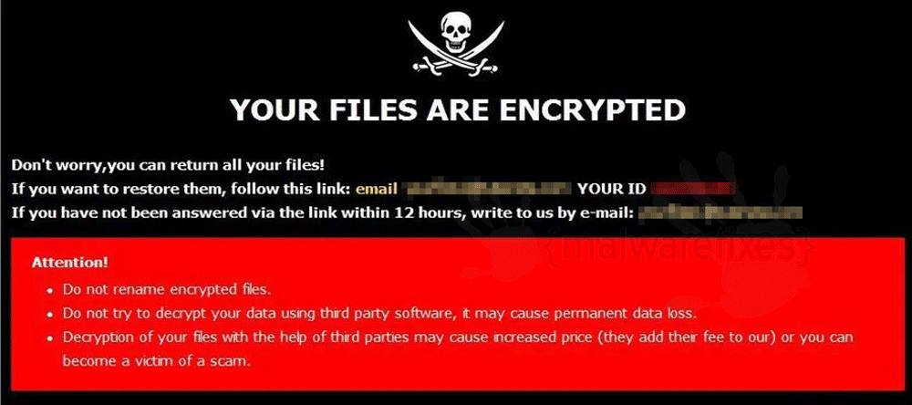 Image of Ransomware Note