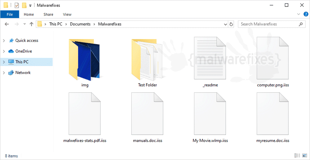 Image of Iiss encrypted files