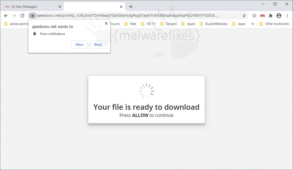 Screenshot of Geedoovu.net website