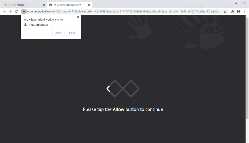 Screenshot of Laborationf.work website