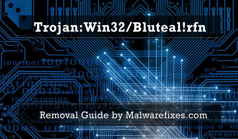 Illustration of Trojan:Win32/Bluteal!rfn