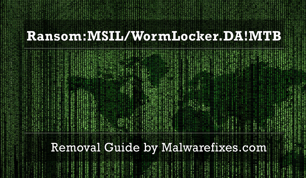 Illustration for Ransom:MSIL/WormLocker.DA!MTB