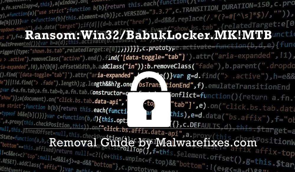 Illustration for Ransom:Win32/BabukLocker.MK!MTB