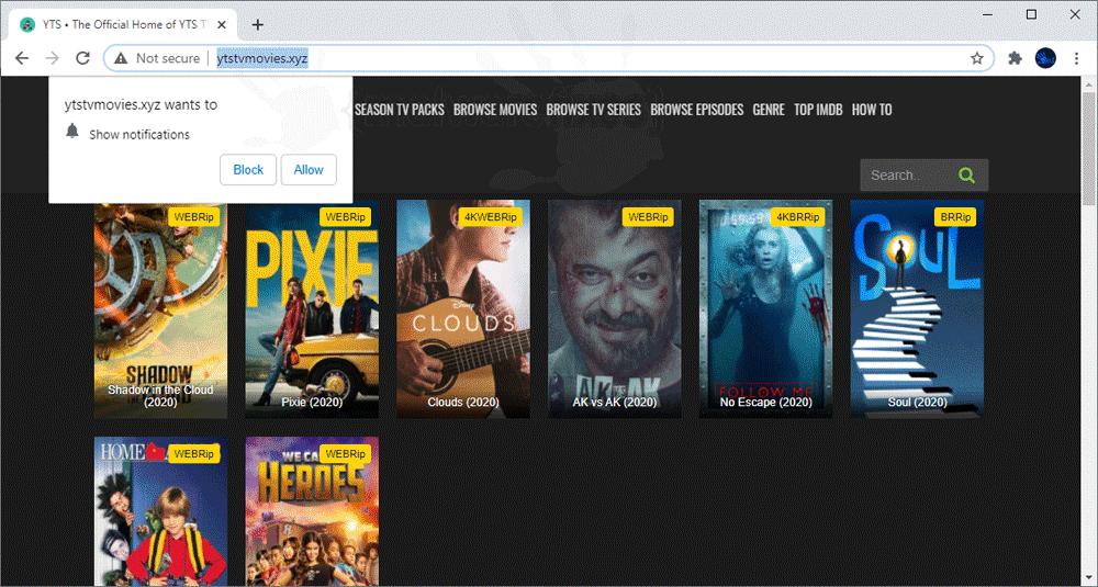 Screenshot of Ytstvmovies.xyz