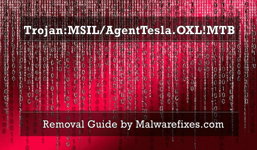 Illustration for Trojan:MSIL/AgentTesla.OXL!MTB