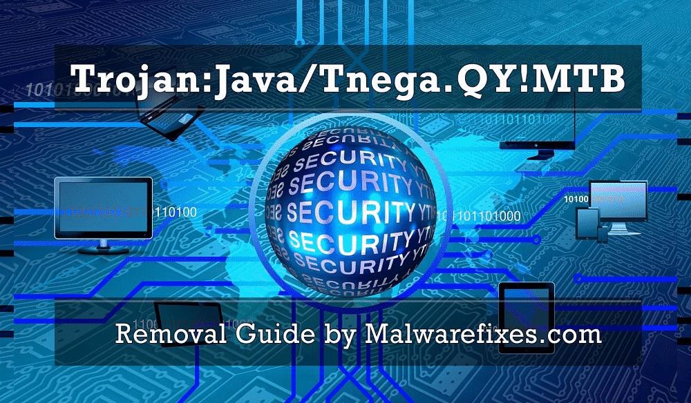 Screenshot of Trojan:Java/Tnega.QY!MTB