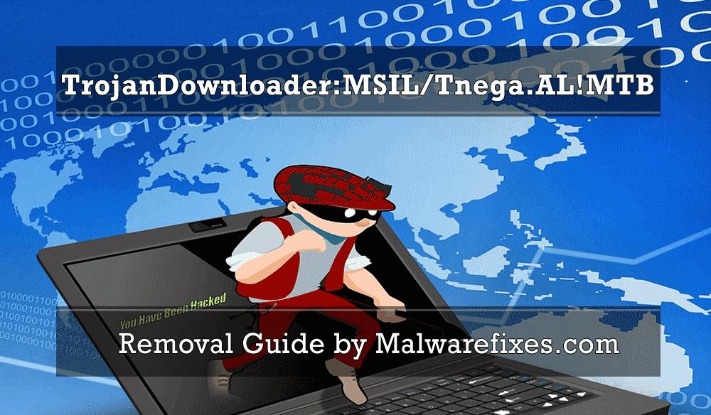 Illustration of TrojanDownloader:MSIL/Tnega.AL!MTB