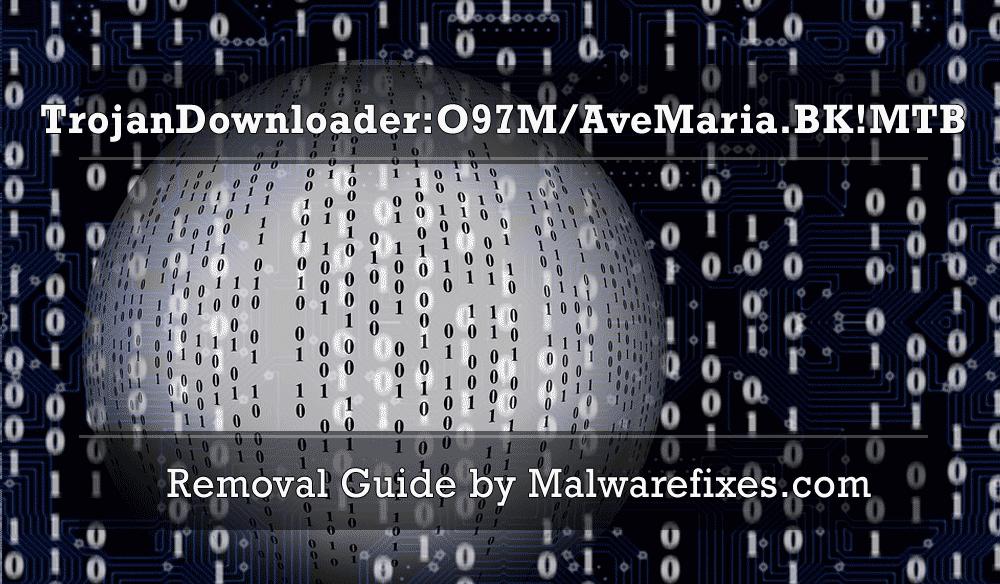 Illustration for TrojanDownloader:O97M/AveMaria.BK!MTB