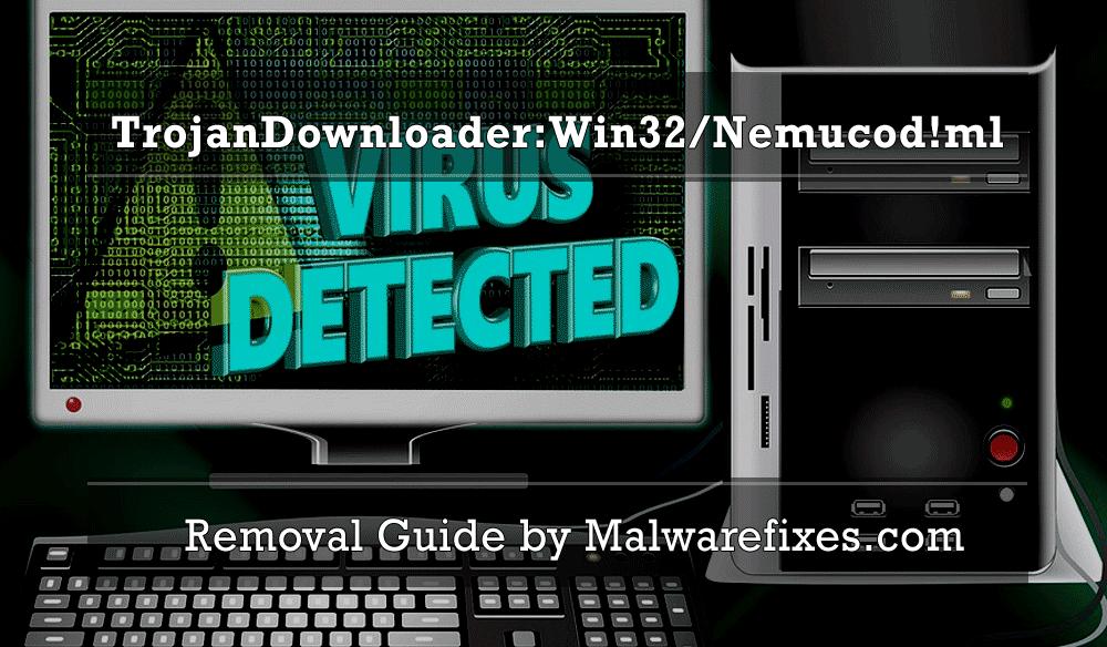 Illustration for TrojanDownloader:Win32/Nemucod!ml