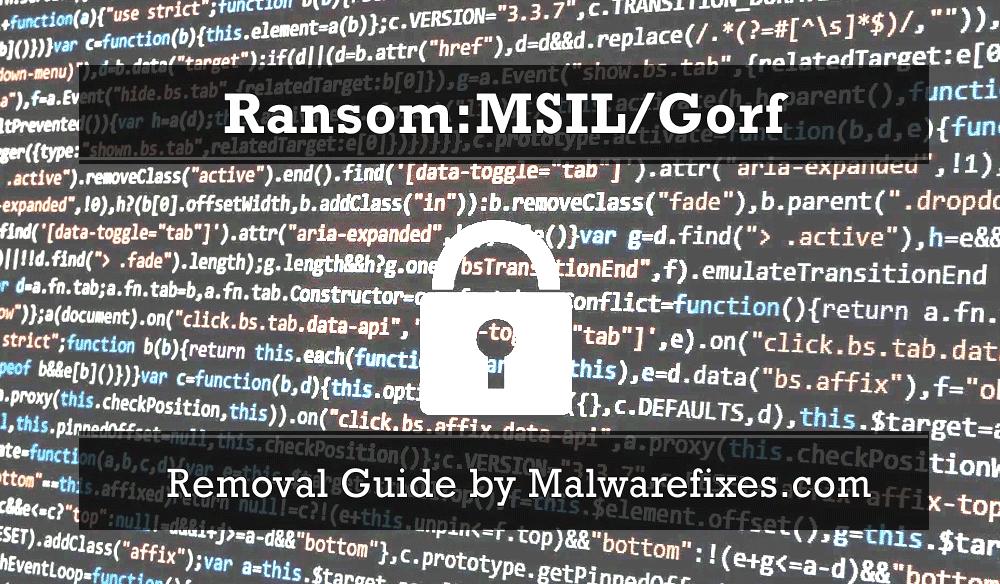 Illustration for Ransom:MSIL/Gorf
