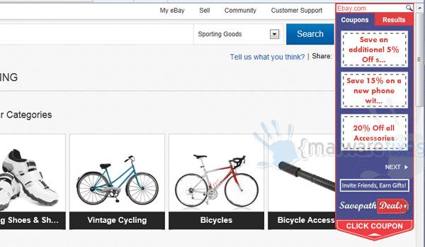 Image of Savepath Deals website
