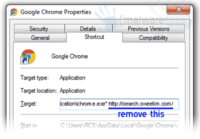 shortcut-chrome-sweetim