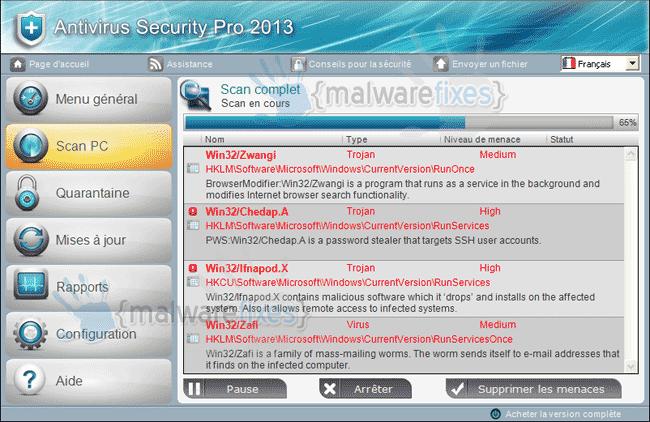 Antivirus Security Pro 2013