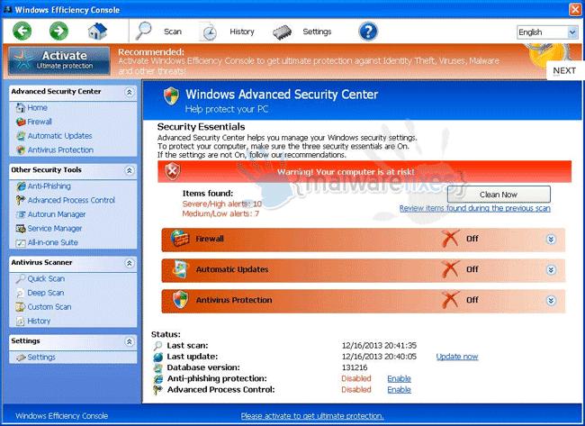 Windows Efficiency Console