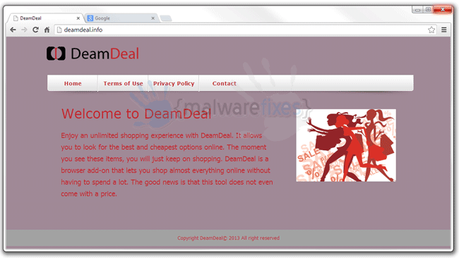 Screenshot of DeamDeal website