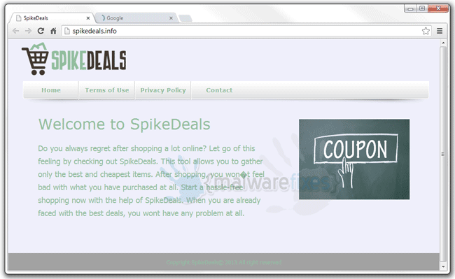 Screenshot of SpikeDeals website