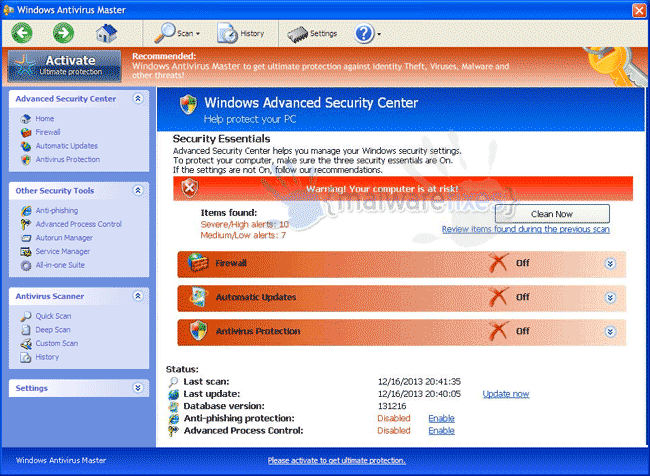Windows Antivirus Master