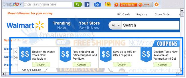 Screenshot of FindRight Ads
