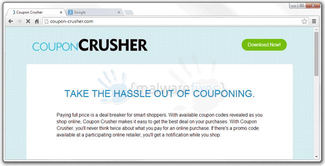 Screenshot image of Coupon Crusher website