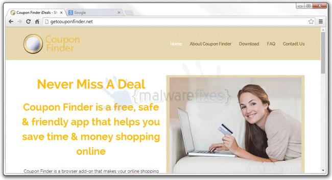 Image of Coupon Finder website