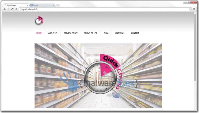 Image of QuickCheap website