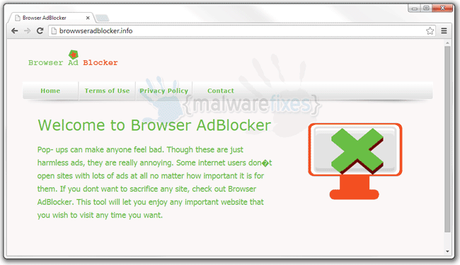 Image of Browser AdBlocker website