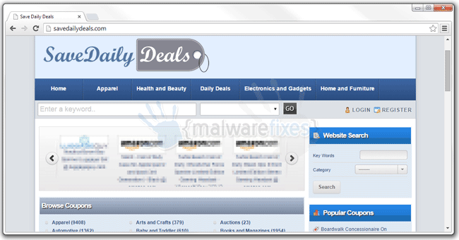 Screenshot image of SaveDailyDeals Ads