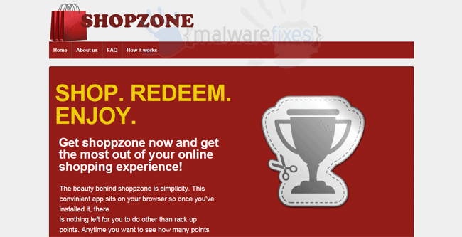 Image of Shopzone website
