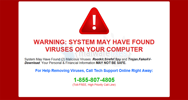 System may have found viruses