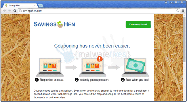 Image of Savings Hen website