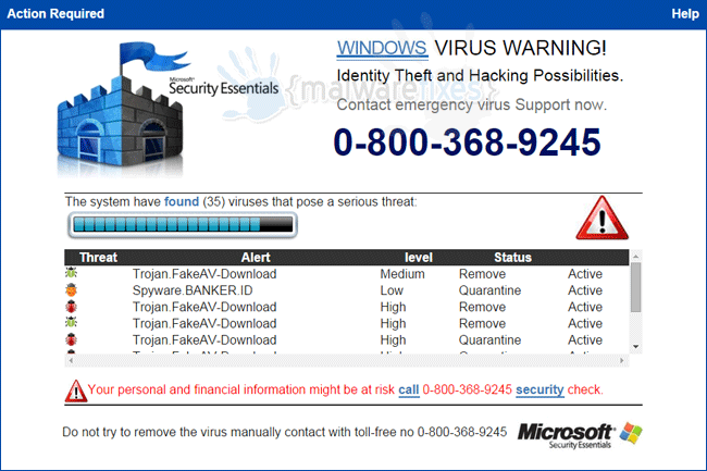 Windows Virus Warning