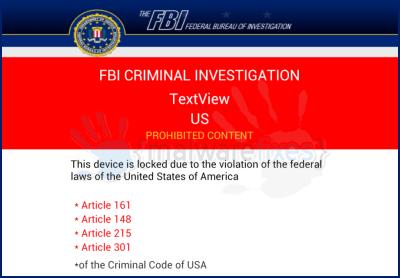 FBI Criminal Investigation Virus