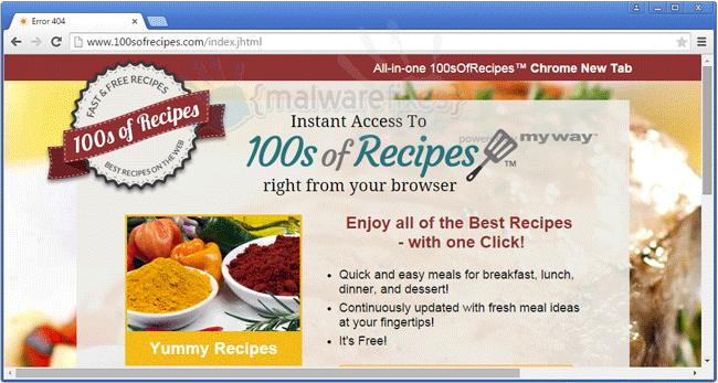 100s of Recipes Toolbar