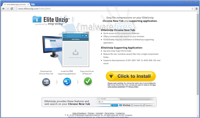 Elite Unzip Toolbar