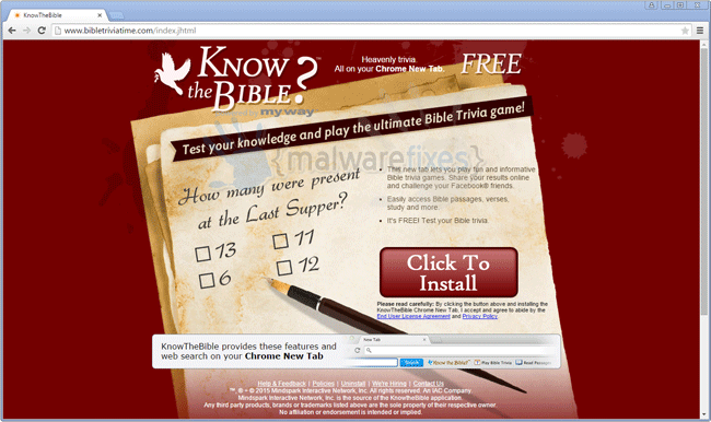 Know The Bible Toolbar