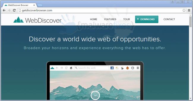 Screenshot of WebDiscover website
