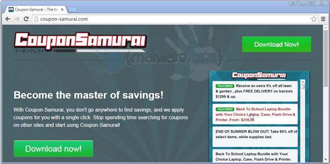 Image of CouponSamurai website