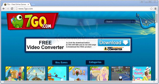 Image of 7go Games website