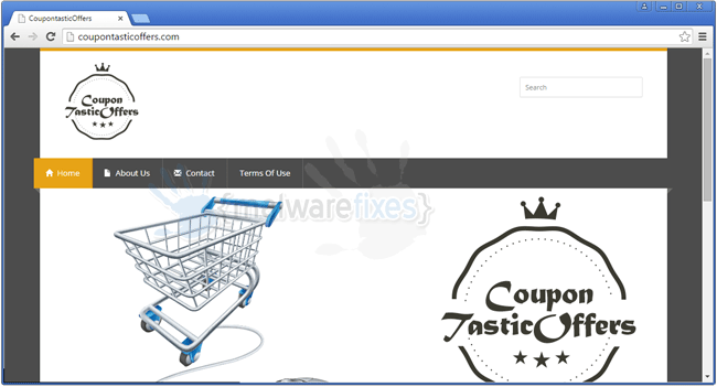 Screenshot of CoupontasticOffers website