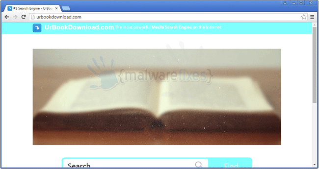 Screenshot of UrBookDownload website